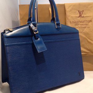 Auth LOUIS VUITTON Riviera Toledo Blue Epi